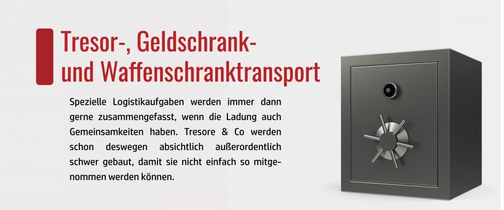 Tresortransport vom erfahrenen Dienstleister. Unsere speziellen Fahrzeuge und Mitarbeiter sind bereit für Ihren Tresortransport.