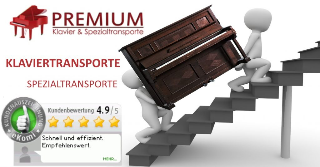 Klaviertransport in Dortmund, Düsseldorf, Wuppertal, Duisburg, Leverkusen, Köln, Münster, Koblenz, Wiesbaden, Frankfurt, Ahrweiler, Bergischgladbach, Mainz.